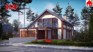 24600$-მანსარდული სახლი-205 კვ.მ